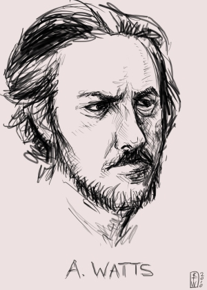 Alan Watts by Kristen Taylor Wright: http://wp.me/P1eLdD-2